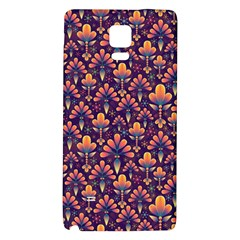 Abstract Background Floral Pattern Galaxy Note 4 Back Case
