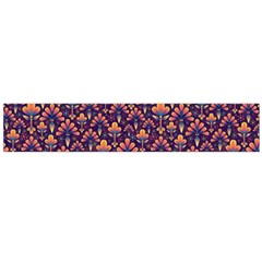 Abstract Background Floral Pattern Flano Scarf (large)