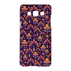 Abstract Background Floral Pattern Samsung Galaxy A5 Hardshell Case