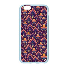 Abstract Background Floral Pattern Apple Seamless iPhone 6/6S Case (Color)
