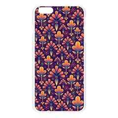 Abstract Background Floral Pattern Apple Seamless iPhone 6 Plus/6S Plus Case (Transparent)