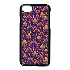 Abstract Background Floral Pattern Apple Iphone 7 Seamless Case (black)