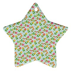 Flowers Roses Floral Flowery Ornament (star)