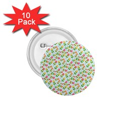 Flowers Roses Floral Flowery 1 75  Buttons (10 Pack)