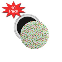 Flowers Roses Floral Flowery 1 75  Magnets (10 Pack)