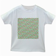 Flowers Roses Floral Flowery Kids White T Shirts