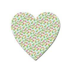Flowers Roses Floral Flowery Heart Magnet