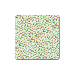 Flowers Roses Floral Flowery Square Magnet