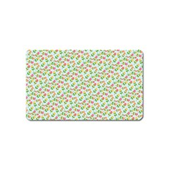 Flowers Roses Floral Flowery Magnet (Name Card)