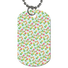 Flowers Roses Floral Flowery Dog Tag (two Sides)