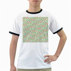 Flowers Roses Floral Flowery Ringer T Shirts