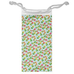 Flowers Roses Floral Flowery Jewelry Bag