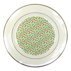 Flowers Roses Floral Flowery Porcelain Plates