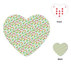 Flowers Roses Floral Flowery Playing Cards (heart)