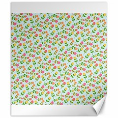Flowers Roses Floral Flowery Canvas 8  X 10
