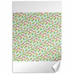 Flowers Roses Floral Flowery Canvas 12  X 18