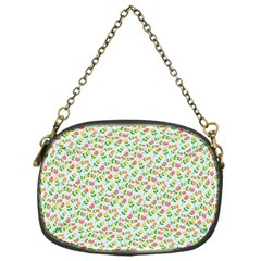 Flowers Roses Floral Flowery Chain Purses (One Side)