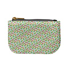 Flowers Roses Floral Flowery Mini Coin Purses