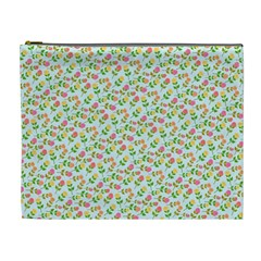Flowers Roses Floral Flowery Cosmetic Bag (xl)