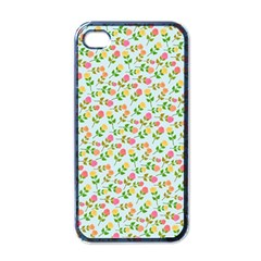 Flowers Roses Floral Flowery Apple Iphone 4 Case (black)