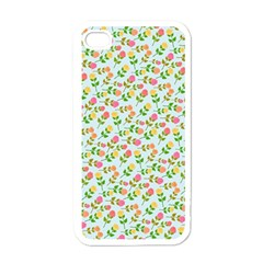 Flowers Roses Floral Flowery Apple Iphone 4 Case (white)