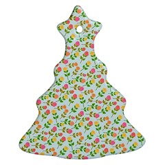 Flowers Roses Floral Flowery Ornament (christmas Tree)