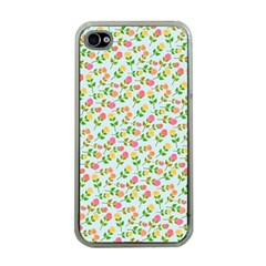Flowers Roses Floral Flowery Apple Iphone 4 Case (clear)