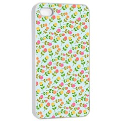 Flowers Roses Floral Flowery Apple iPhone 4/4s Seamless Case (White)