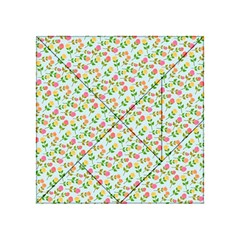 Flowers Roses Floral Flowery Acrylic Tangram Puzzle (4  X 4 )