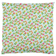 Flowers Roses Floral Flowery Large Cushion Case (one Side)