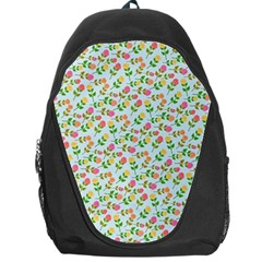 Flowers Roses Floral Flowery Backpack Bag