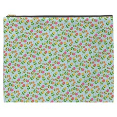 Flowers Roses Floral Flowery Cosmetic Bag (xxxl)
