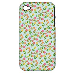 Flowers Roses Floral Flowery Apple Iphone 4/4s Hardshell Case (pc+silicone)