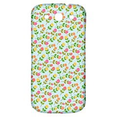 Flowers Roses Floral Flowery Samsung Galaxy S3 S Iii Classic Hardshell Back Case