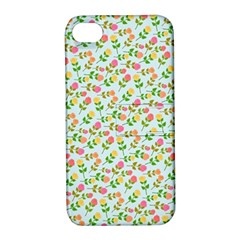 Flowers Roses Floral Flowery Apple Iphone 4/4s Hardshell Case With Stand
