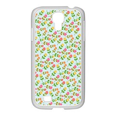 Flowers Roses Floral Flowery Samsung Galaxy S4 I9500/ I9505 Case (white)