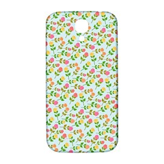 Flowers Roses Floral Flowery Samsung Galaxy S4 I9500/I9505  Hardshell Back Case