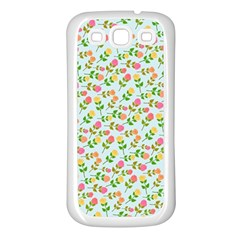 Flowers Roses Floral Flowery Samsung Galaxy S3 Back Case (White)