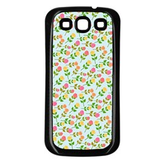 Flowers Roses Floral Flowery Samsung Galaxy S3 Back Case (black)