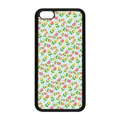 Flowers Roses Floral Flowery Apple Iphone 5c Seamless Case (black)