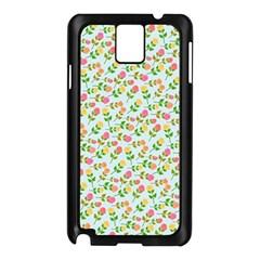 Flowers Roses Floral Flowery Samsung Galaxy Note 3 N9005 Case (Black)