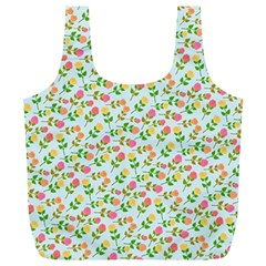 Flowers Roses Floral Flowery Full Print Recycle Bags (L)