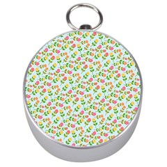 Flowers Roses Floral Flowery Silver Compasses