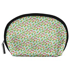 Flowers Roses Floral Flowery Accessory Pouches (large)