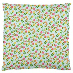 Flowers Roses Floral Flowery Standard Flano Cushion Case (two Sides)
