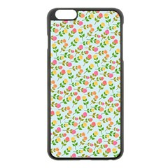 Flowers Roses Floral Flowery Apple Iphone 6 Plus/6s Plus Black Enamel Case