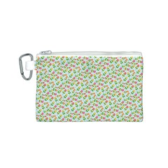 Flowers Roses Floral Flowery Canvas Cosmetic Bag (s)