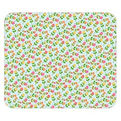 Flowers Roses Floral Flowery Double Sided Flano Blanket (small)