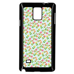 Flowers Roses Floral Flowery Samsung Galaxy Note 4 Case (black)