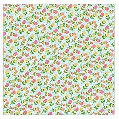 Flowers Roses Floral Flowery Large Satin Scarf (square)
